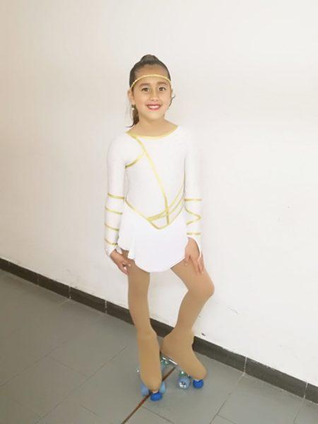 Body gara usato Bambina 7/9 anni color Bianco.
